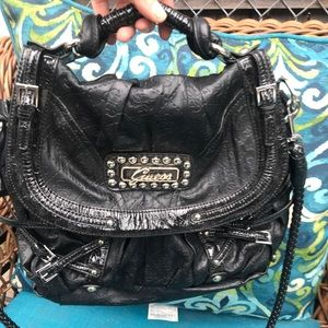 Guess satchel crossbody vegan leather good cond